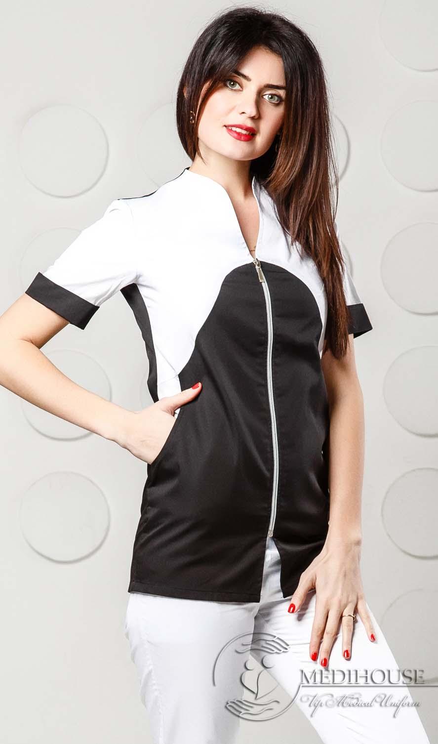 Женский медицинский блузон мод. 1.6 B&W