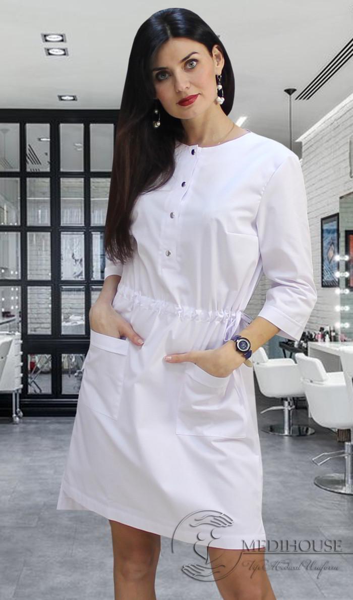 Женское медицинское платье мод. Веста White