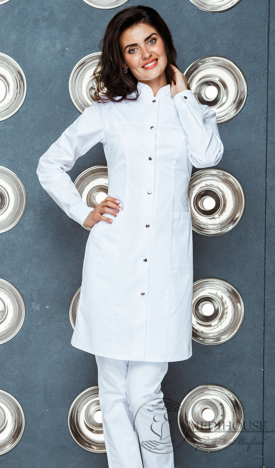 Женский медицинский халат мод. 1м1 White
