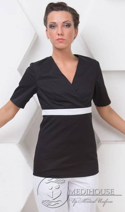 Женский медицинский блузон мод. 17.1 B&W