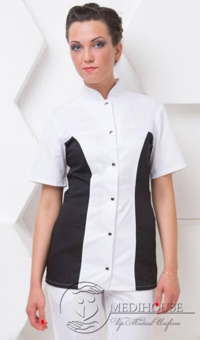 Женский медицинский блузон мод. 1.2.2 B&W