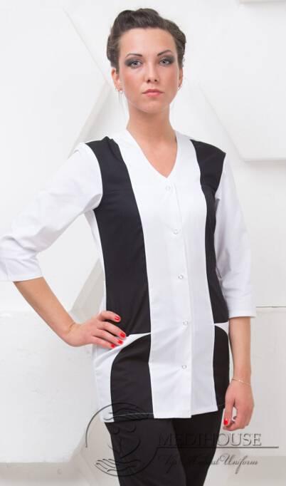 Женский медицинский блузон мод. 1.3.1 B&W