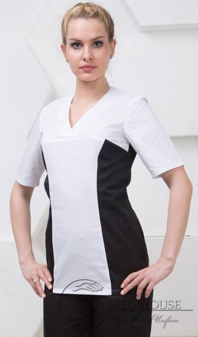 Женский медицинский блузон мод. 3.2 B&W