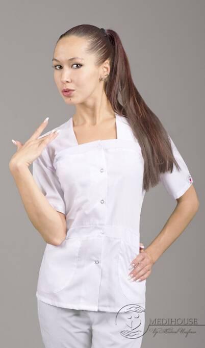 Женский медицинский блузон мод. 1.3.2 White