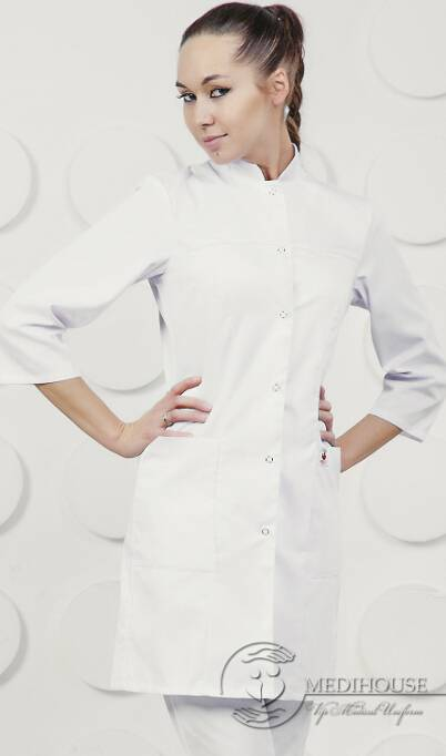 Женский медицинский халат мод. 1 White