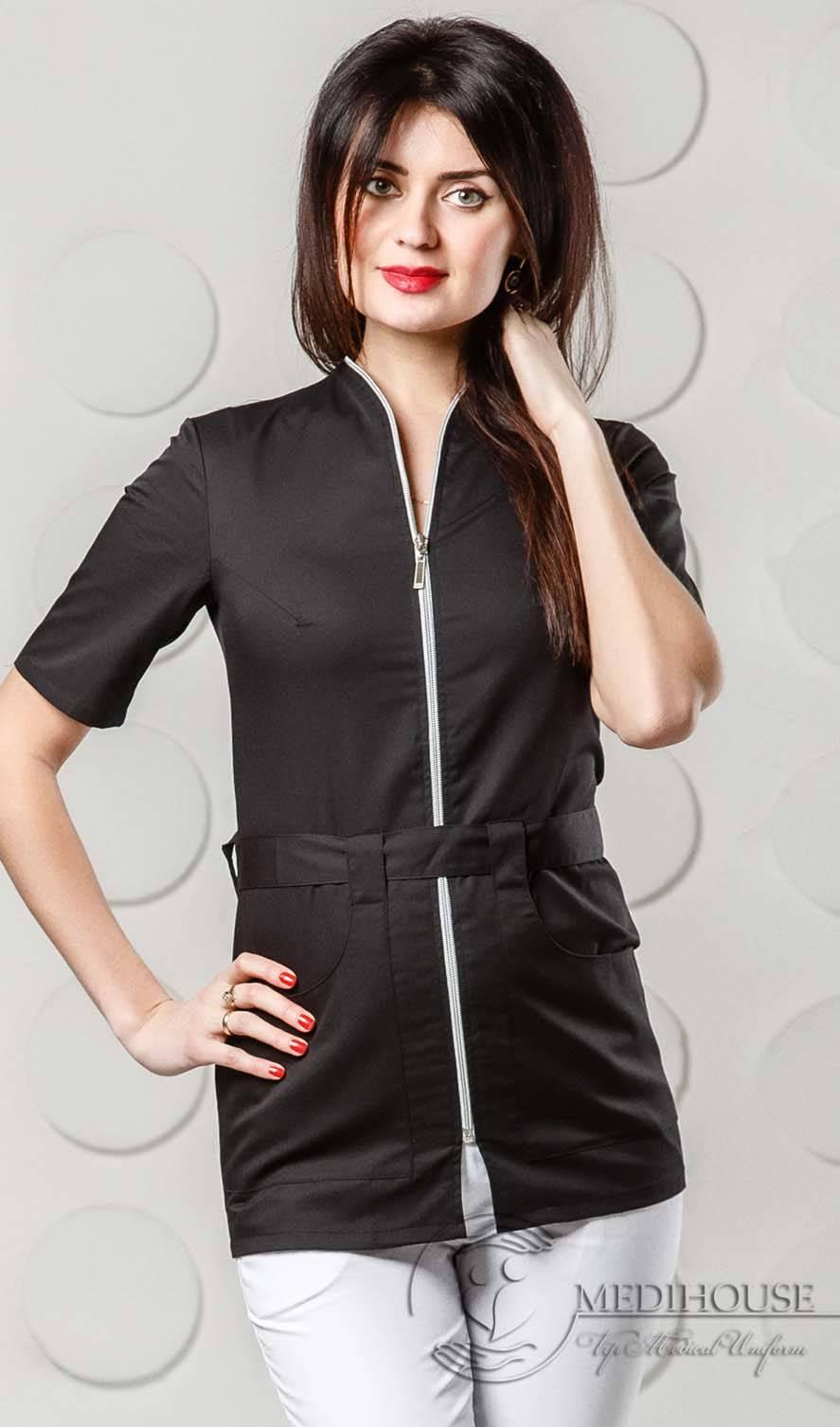 Женский медицинский блузон мод. 1.7 B&W