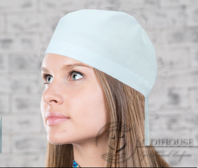 Женская медицинская шапочка мод. 15.1 White